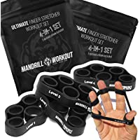 4PCS Hand Therapy Finger Stretcher, 4 Levels Hand Resistance Bands, Hand Therapy for Arthritis, Carpal Tunnel & Post…