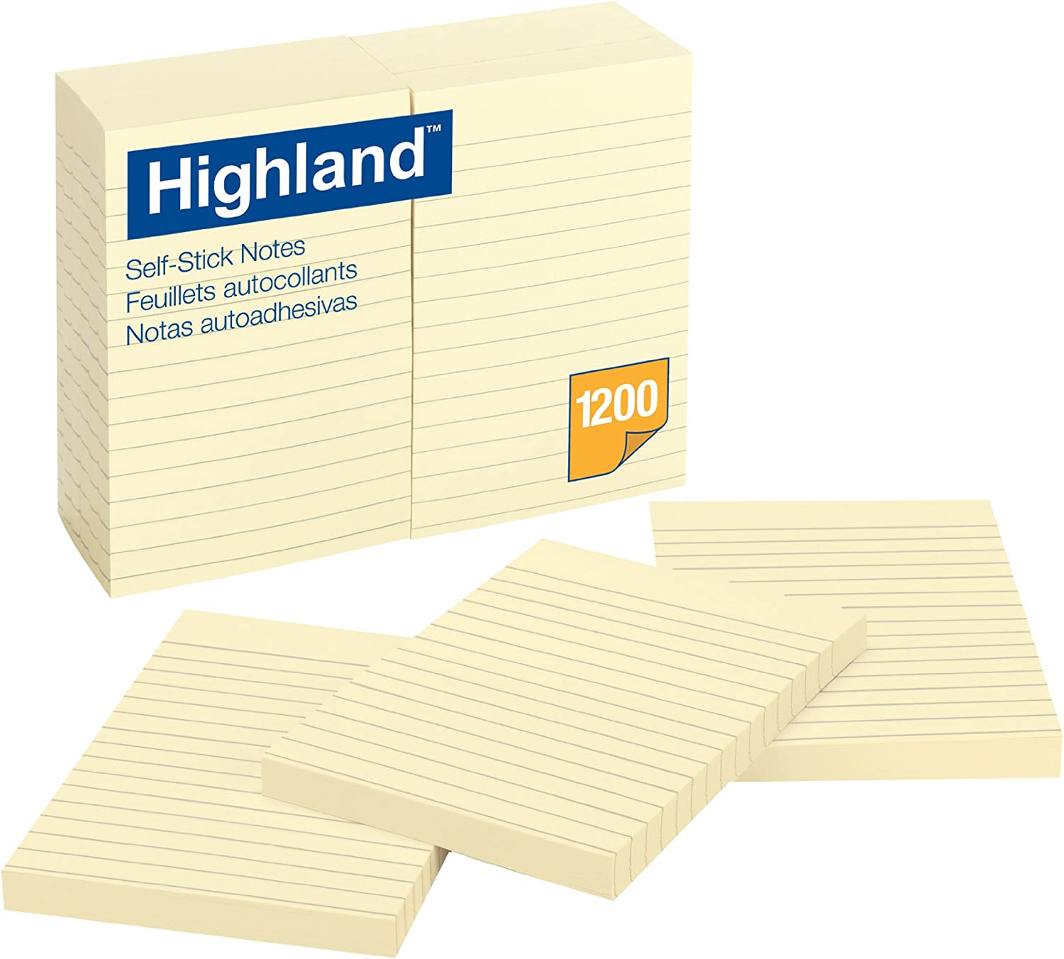 Highland Notes, 4 x 6-Inches, Yellow, 100 Sheets per pad, 12-Pads/Pack,(6609)