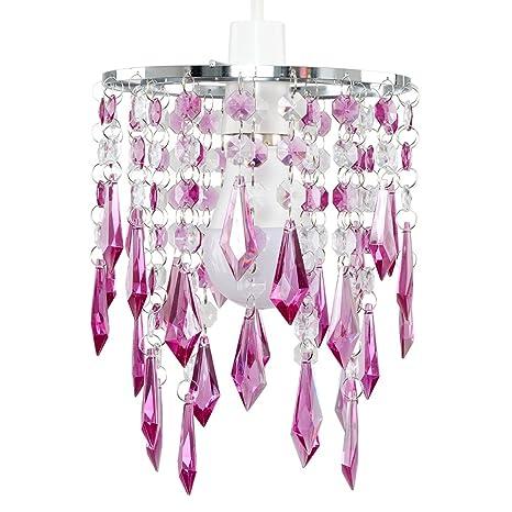 Et Avec Perles Lustre PendeloquesGouttelettes Acrylique Violettransparentes Minisun En vmnwON80