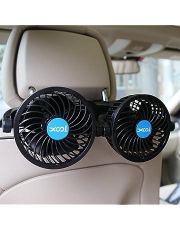 Car Fan, Electric Car Fans for Rear Seat Passenger Portable Car Seat Fan Headrest 360
