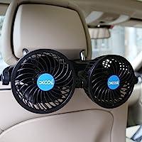 Car Fan, XOOL Electric Car Fans for Rear Seat Passenger Portable Car Seat Fan Headrest… photo