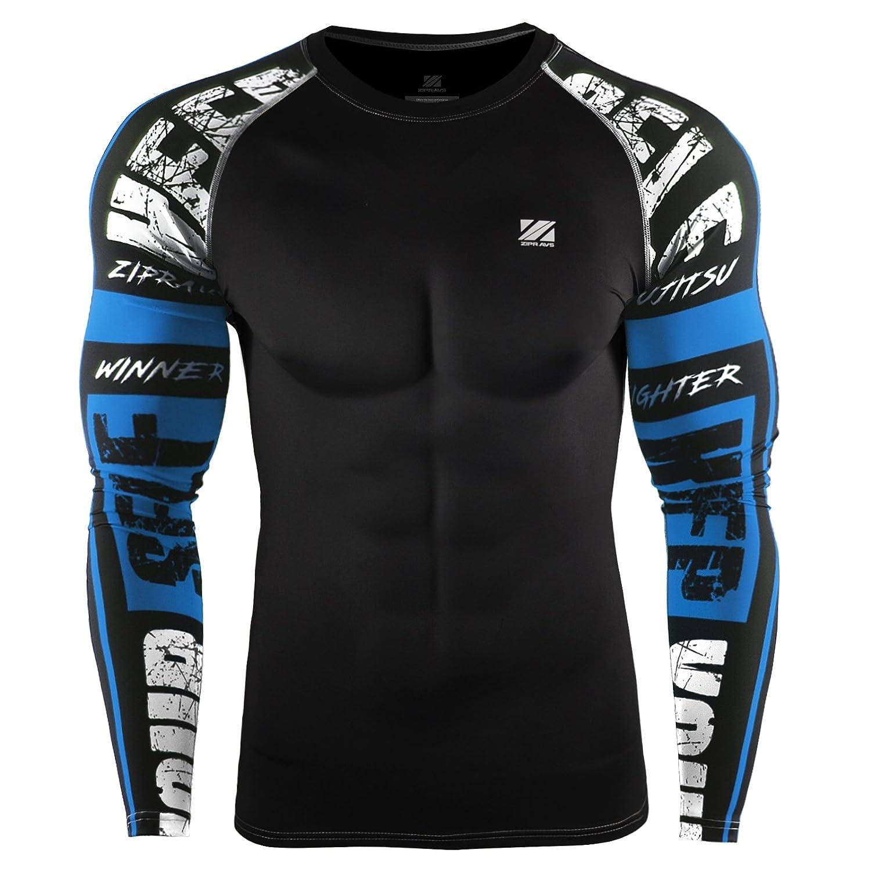 Zipravs maglia a compressione per uomo e donna Heat Gear, a manica lunga, Uomo, ZCDS-102, L ZCDS-102-L