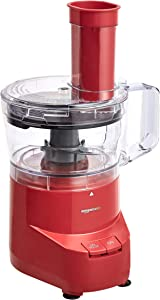 AmazonBasics 4-Cup Food Processor, Red