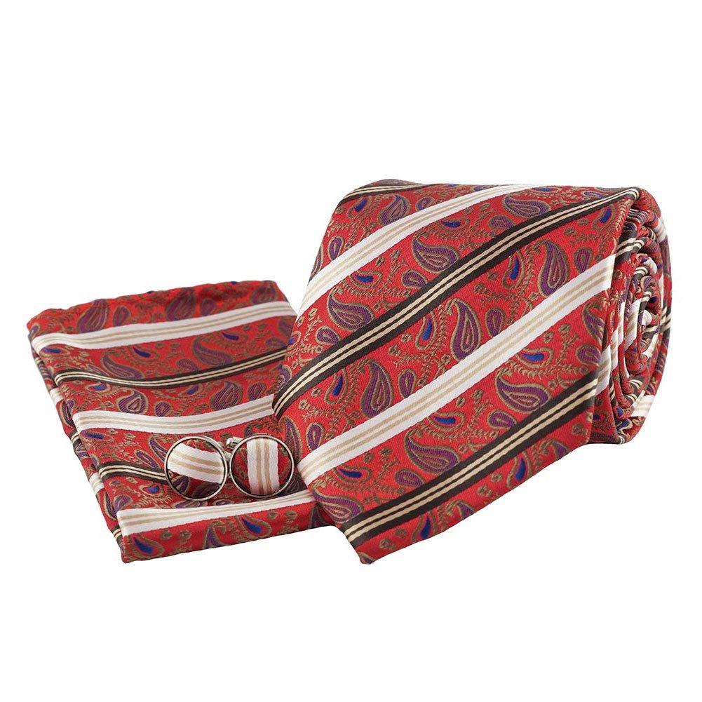 Jason&Vogue - Corbata - Paisley - para hombre rojo rojo Talla ...