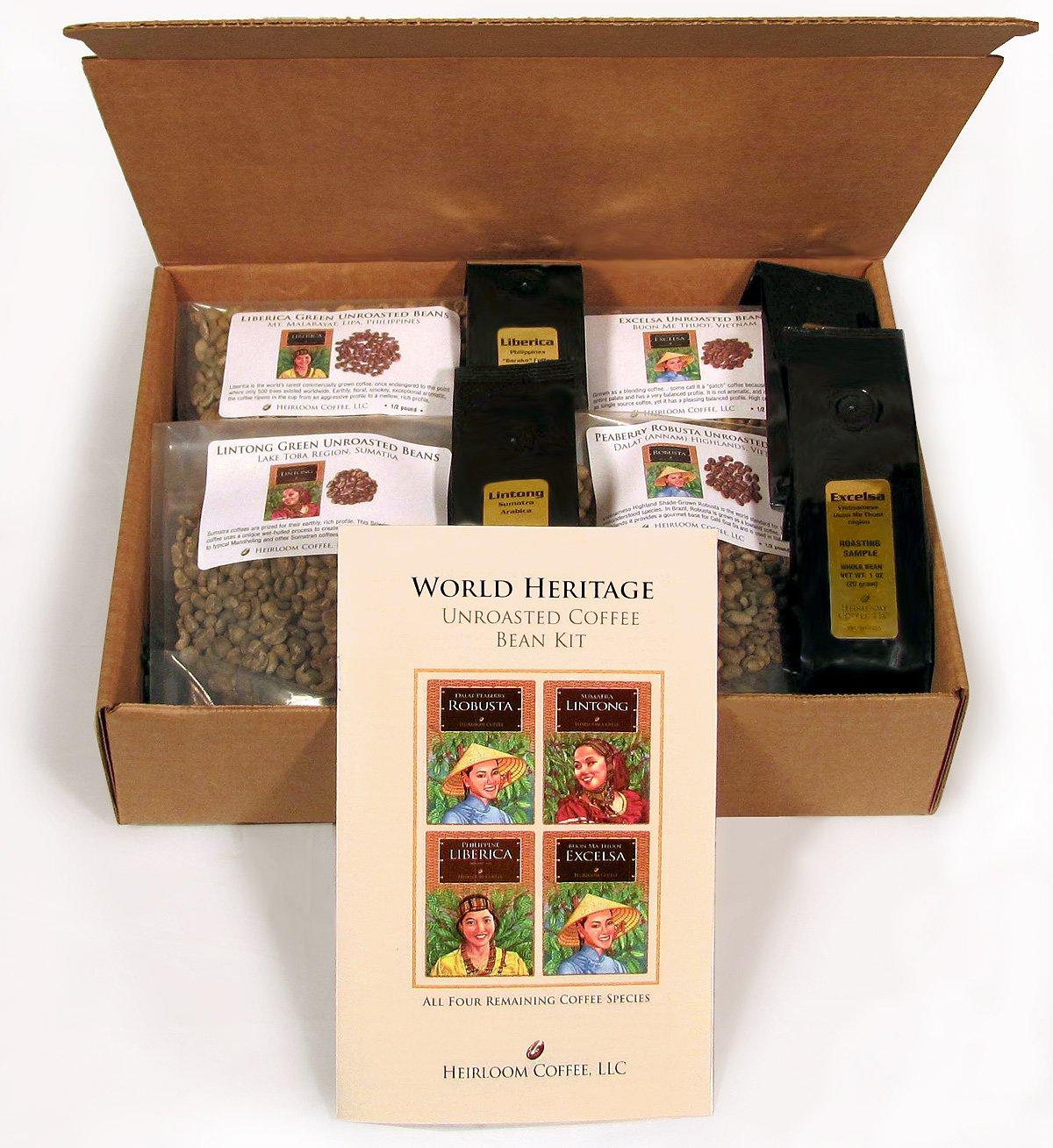 World Heritage Green Unroasted Coffee Bean Kit 4 LB