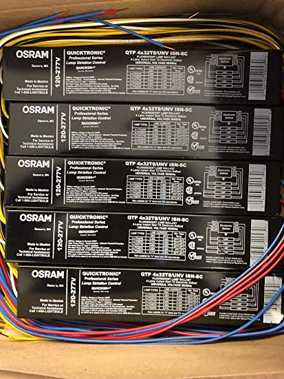 SYLVANIA QHE 4X32T8//UNV ISL-SC 4 LAMP INSTANT START T8 ELECTRONIC BALLAST