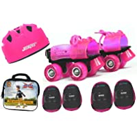 Jaspo Pink Heaven Intact Junior Skates Combo (Skates+Helmet+Knee+Elbow+Bag) Suitable for Age Upto 5 Years
