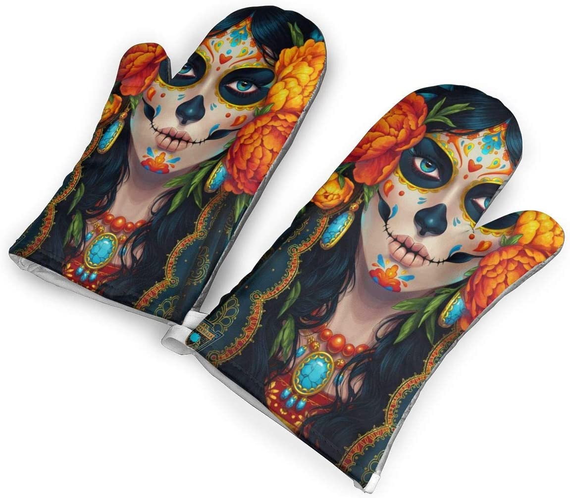 TMVFPYR Clown Oven Mitts, Non-Slip Silicone Oven Mitts, Extra Long Kitchen Mitts, Heat Resistant to 500fahrenheit Degrees Kitchen Oven Gloves