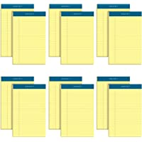 TOPS Docket Pads, Jr. Legal Rule, 5 x 8 Inches, Canary, 50 Sheets/Pad, 12 Pads/Pack (63350)