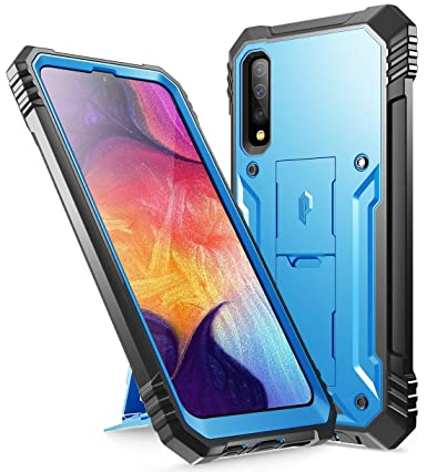 Poetic Galaxy A50 Rugged Case with Kickstand, Full-Body Dual-Layer Shockproof Protective Cover, Built-in-Screen Protector, Revolution Series, Defender ...