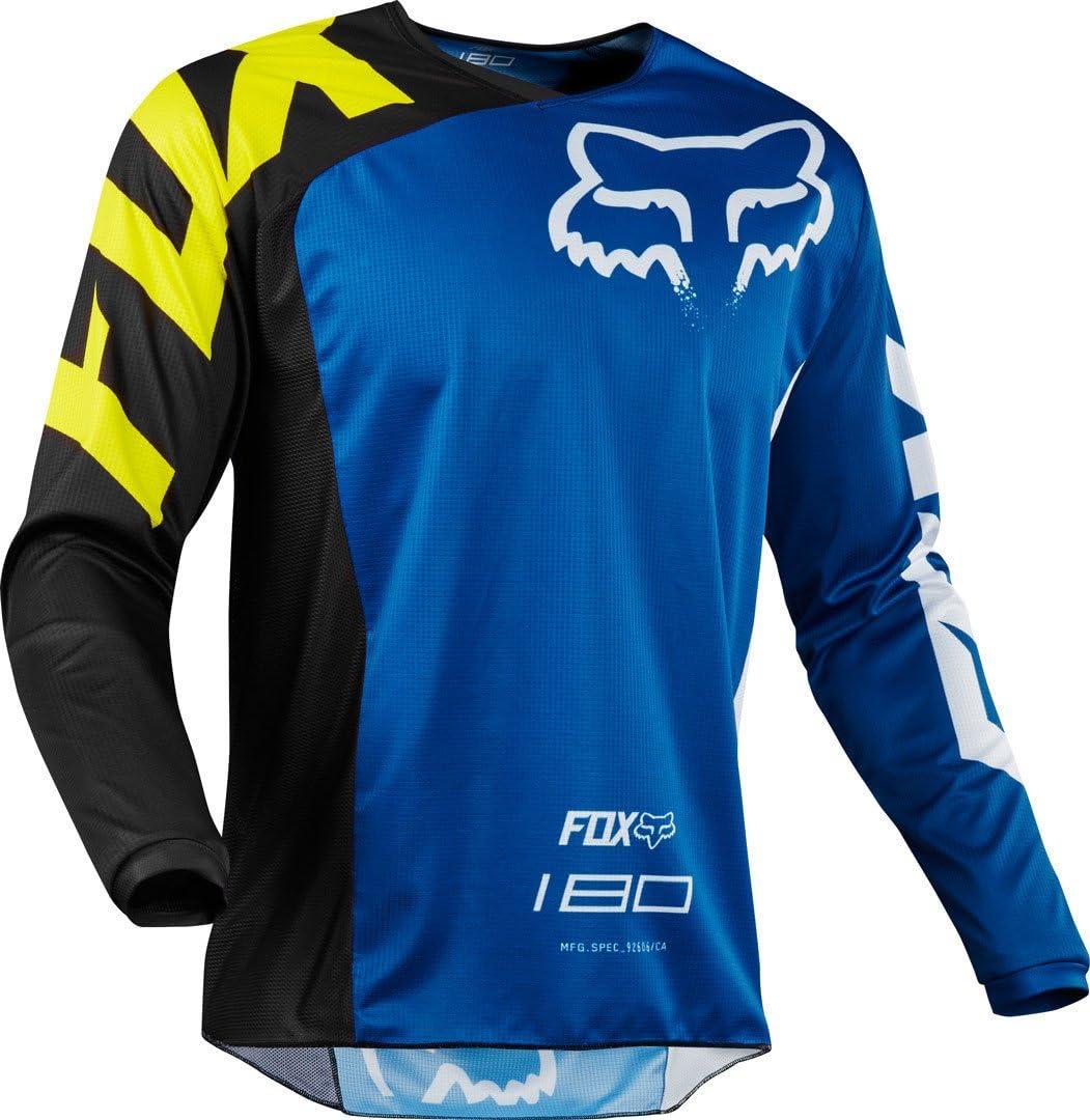 Fox Camiseta Jersey 180 Race, azul, tamaño L: Amazon.es: Coche y moto