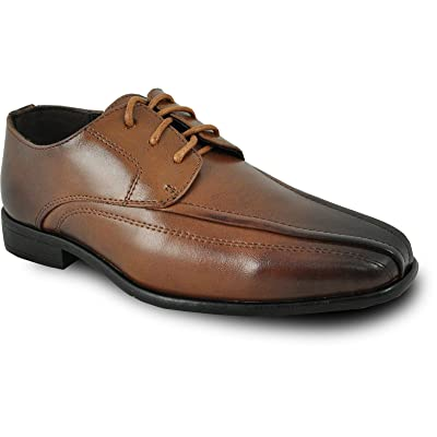 Bravo! Boy Dress Shoe MILANO-3KID Oxford Shoe with Leather Lining - Brown