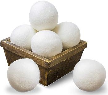 6-Pack SnugPad Natural Fabric Softener 100% Organic Wool Dryer Balls