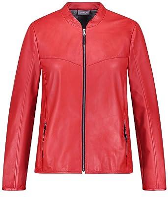 detailed look 2f82f 29d7a SAMOON Damen Blazer/Jacke Leder Softe Lederjacke: Amazon.de ...