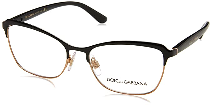 Amazon.com: Eyeglasses Dolce & Gabbana DG 1286 01 BLACK/PINK ...