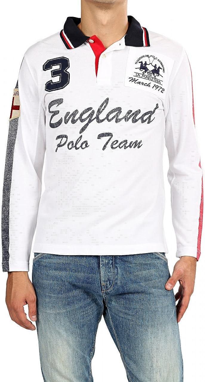 La Martina Camisa Polo ENGLAND para hombre, Color: Blanco: Amazon.es: Ropa y accesorios