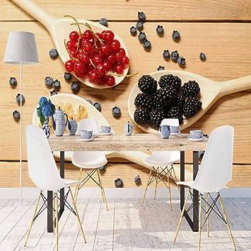 SKTYEE Else Brown Mesa de madera en cucharas Rojo Negro Especias ...
