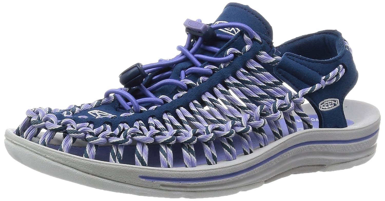KEEN Women's Uneek Slice Fade Sandal B00ZG2TC56 6.5 B(M) US|Poseidon/Periwinkle