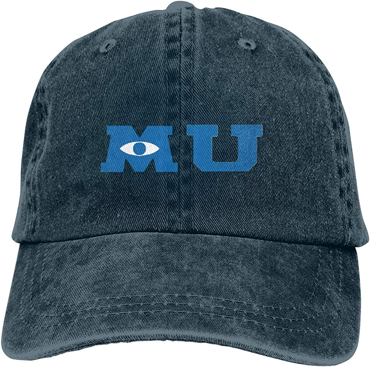 Myzly Monsters University Merchandise Denim Fabric Adjustable Fashion Baseball Cap Navy At Amazon Men S Clothing Store