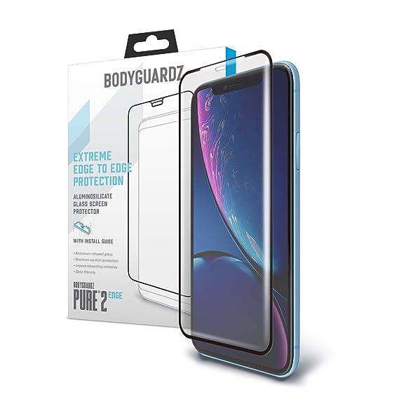 quality design b1c73 fb232 BodyGuardz - Pure 2 Edge Glass Screen Protector for Apple iPhone Xr,  Ultra-Thin Edge-to-Edge Tempered Glass Screen Protection for Apple iPhone  Xr - ...