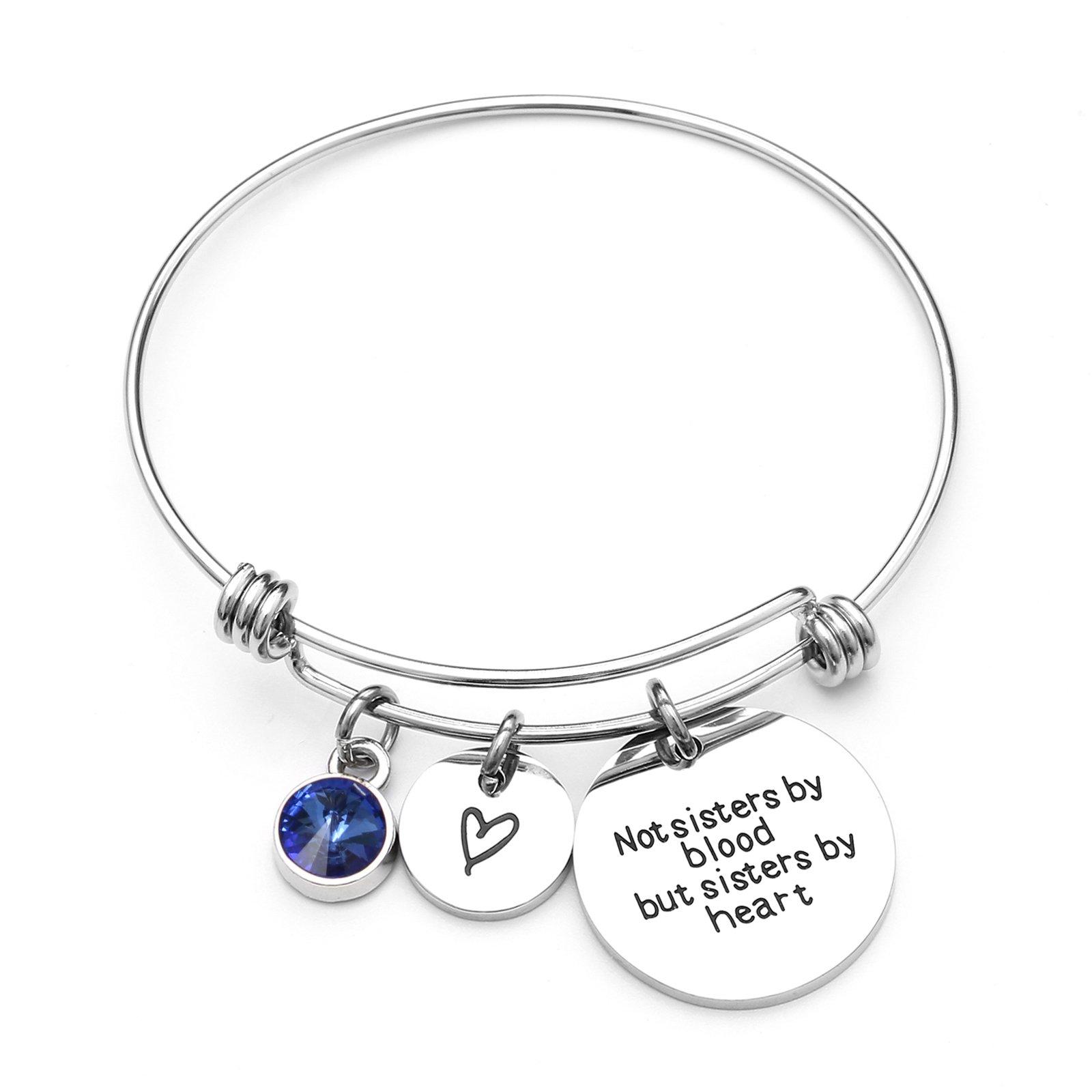 Best Friends Bracelets- Not Sisters by Blood But Sisters by Heart Bracelet- Sister Jewelry (September)