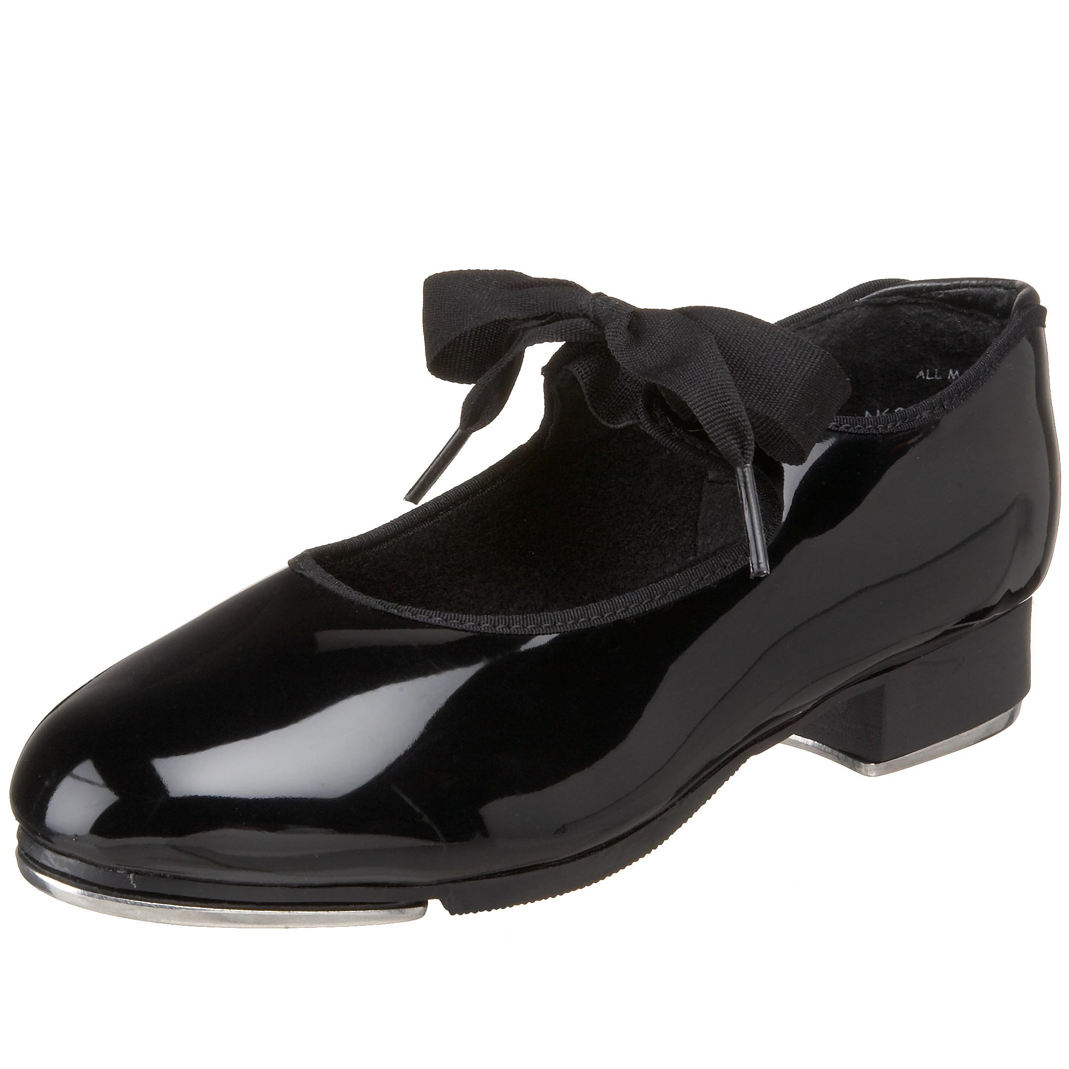 Capezio Women's N625 Jr. Tyette Tap Shoe,Black Patent,7 M US