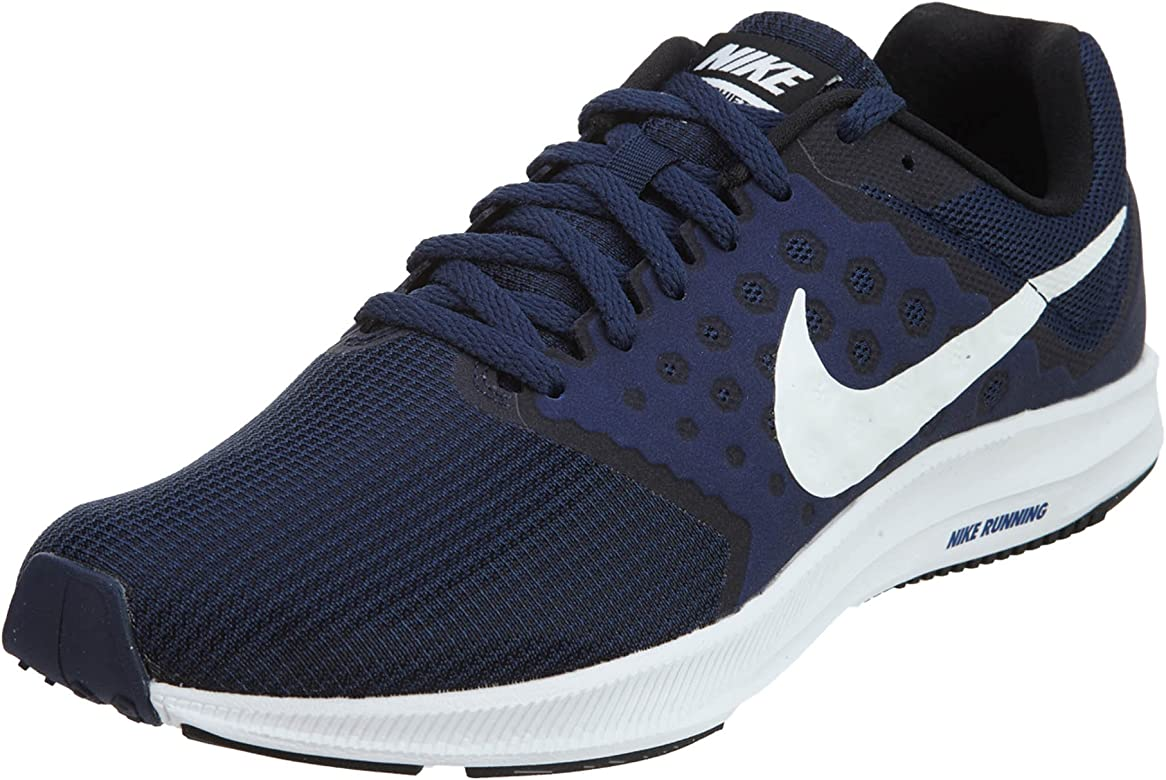 Nike Downshifter 7, Zapatillas de Running Hombre, Azul (Midnight Navy/White/Dark Obsidian/Black), 42 EU: Amazon.es: Zapatos y complementos