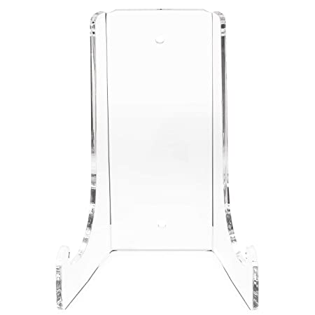 Clear Choice Double-Bend Acrylic Easel Stand 15 H Table top or Wall Mount, Display, Flat Plates, Photos, Place Cards, use for Weddings, Funerals or Birthdays Clear H 15 x W 10 1 4 x D 8 3 4