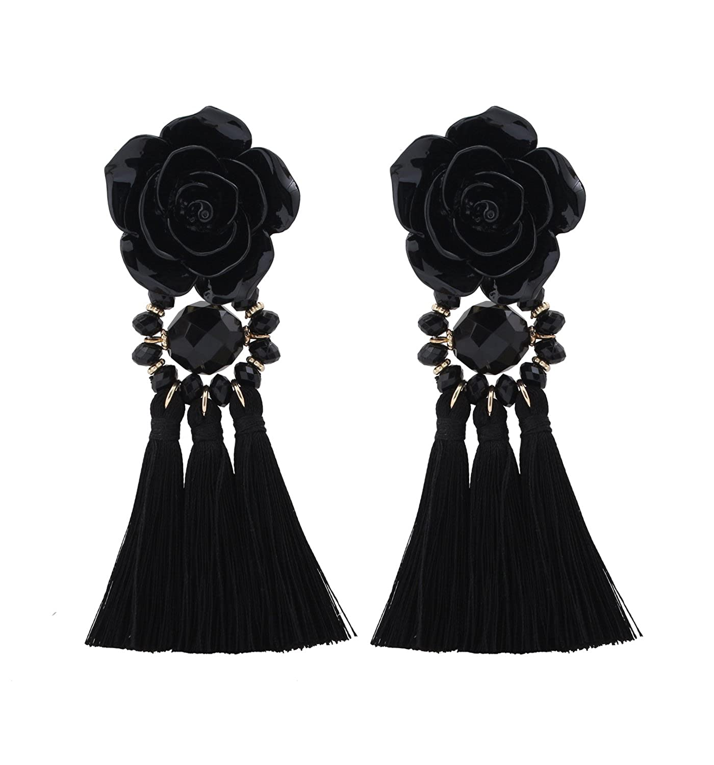 spade flower zi new big york sequin p stud earrings kate dillards black