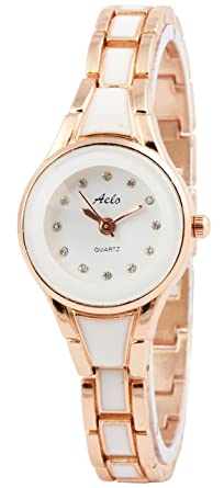 173d49c8585 Buy Aelo Rose Gold Analogue Round White Dial Girls Watch - Www1068 Online  at Low Prices in India - Amazon.in