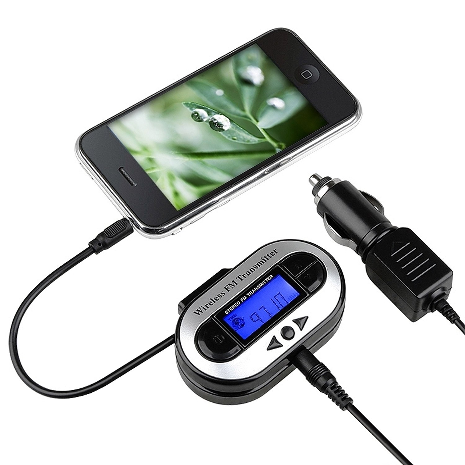 eForCity LCD Stereo Car FM Transmitter for Mp3 Player iPod Touch 412814