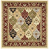 Safavieh Lyndhurst Collection LNH320A Traditional Multi and Red Square Area Rug (8' Square)