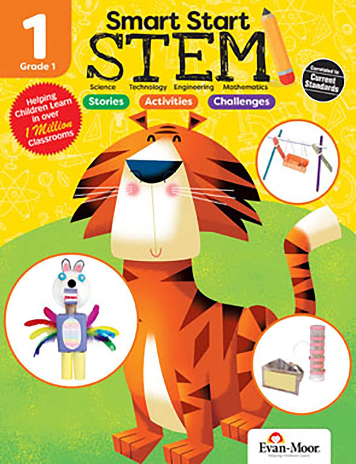 Evan-Moor Smart Start STEM Grade 1 Activity Book Hands-on