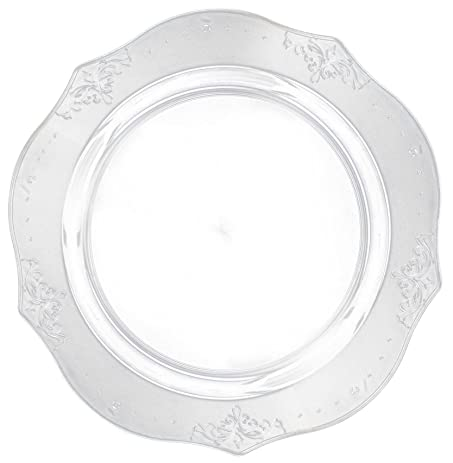 Posh Setting Antique Collection 20 Pack China Look 9 Inch Clear Plastic dinner Plates Fancy  sc 1 st  Amazon.com & Amazon.com: Posh Setting Antique Collection 20 Pack China Look 9 ...
