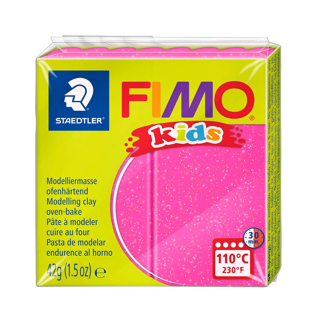 STAEDTLER 42 g Fimo Kids Individual Blocks (Glitter Pink)