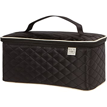 8ff48b46ca Ellis James Designs Large Travel Makeup Bag Organizer - Cosmetic Train Case  Toiletry Bags for Women