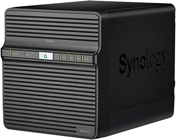 TALLA 16TB WD RED. Synology DiskStation DS416j Ethernet Escritorio Negro NAS - Unidad Raid (16 TB, Unidad de Disco Duro, Unidad de Disco Duro, SSD, Serial ATA II,Serial ATA III, 4000 GB, 2.5/3.5