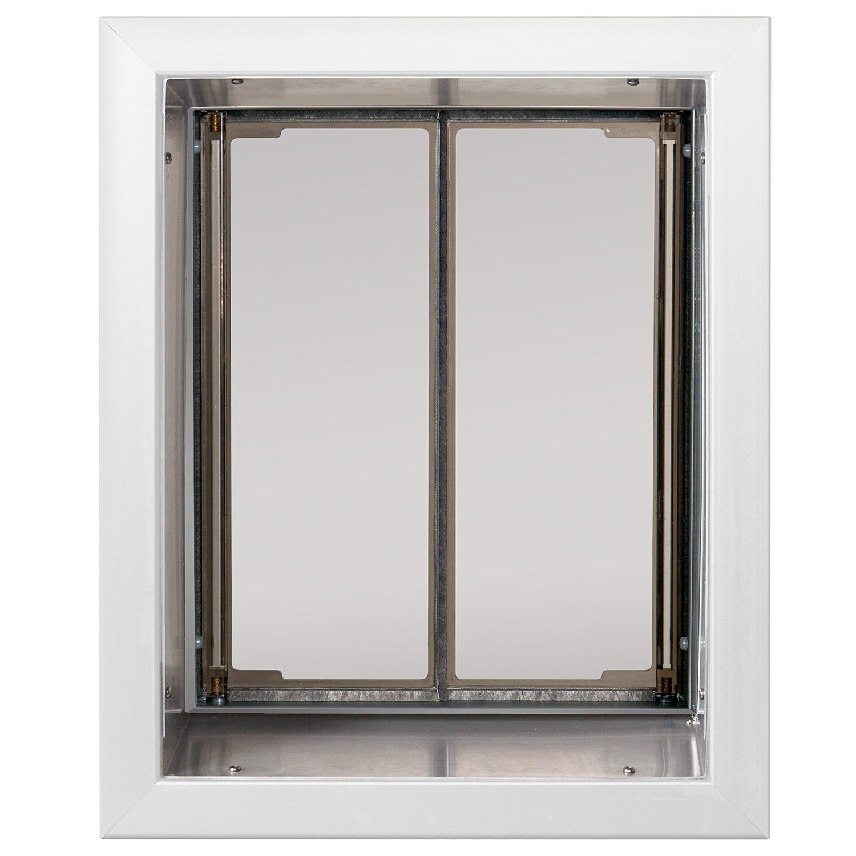 PlexiDor Performance Pet Doors Large White Wall Mount