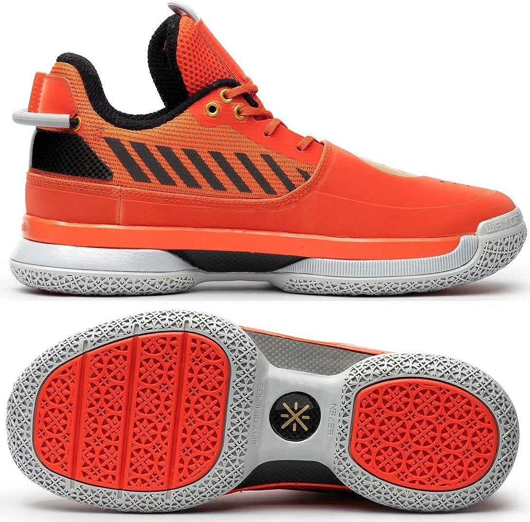 Li-Ning Wow 7 Series Wade Men Professional Basketball Shoes Male Classic Wearable Cushioning Sports Sneakers ABAN079 Golden Gate