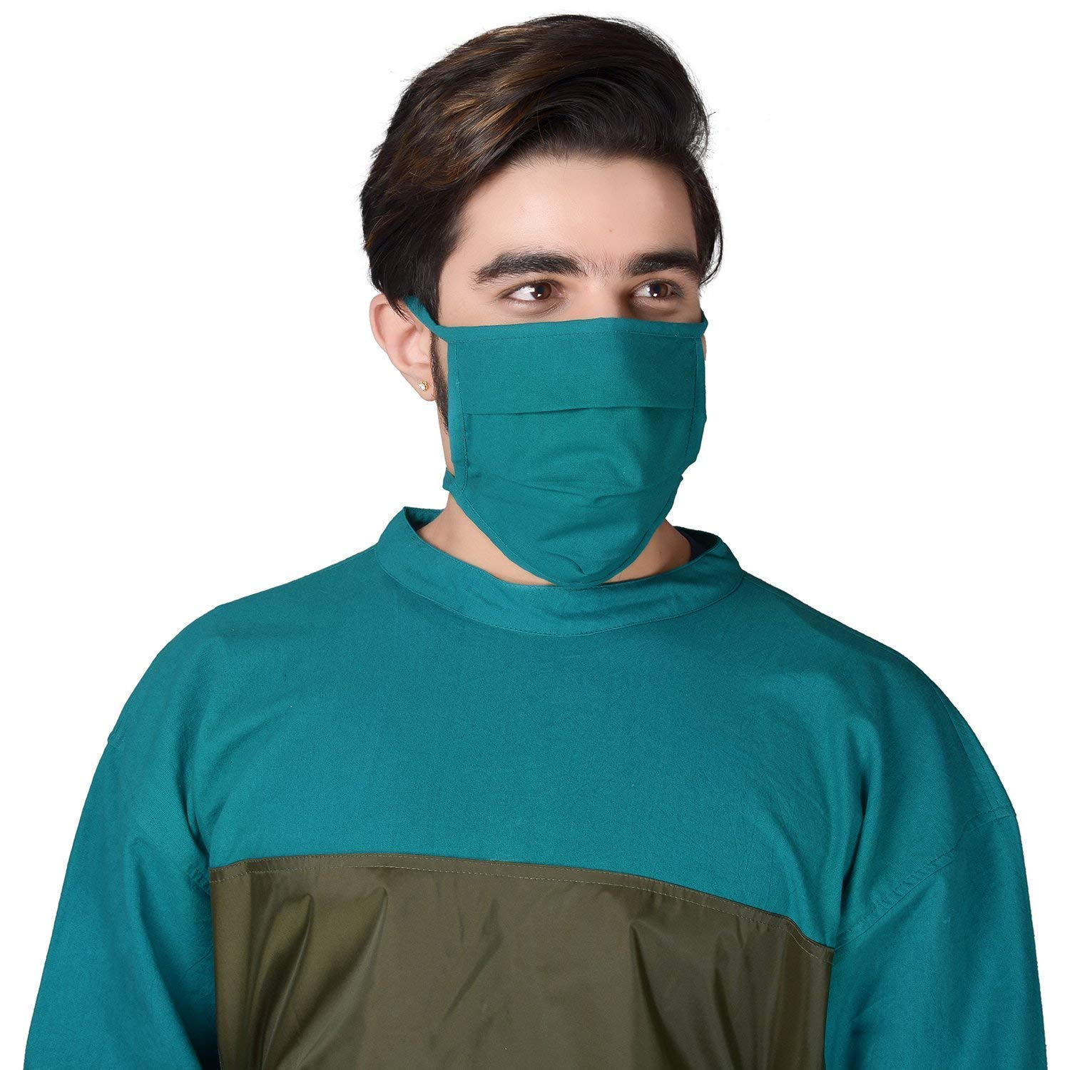 Saraf Reusable Anti Pollution Face Mask Cloth Tie 100 Protection Washable Long Life Use Green Color Amazon In Clothing Accessories