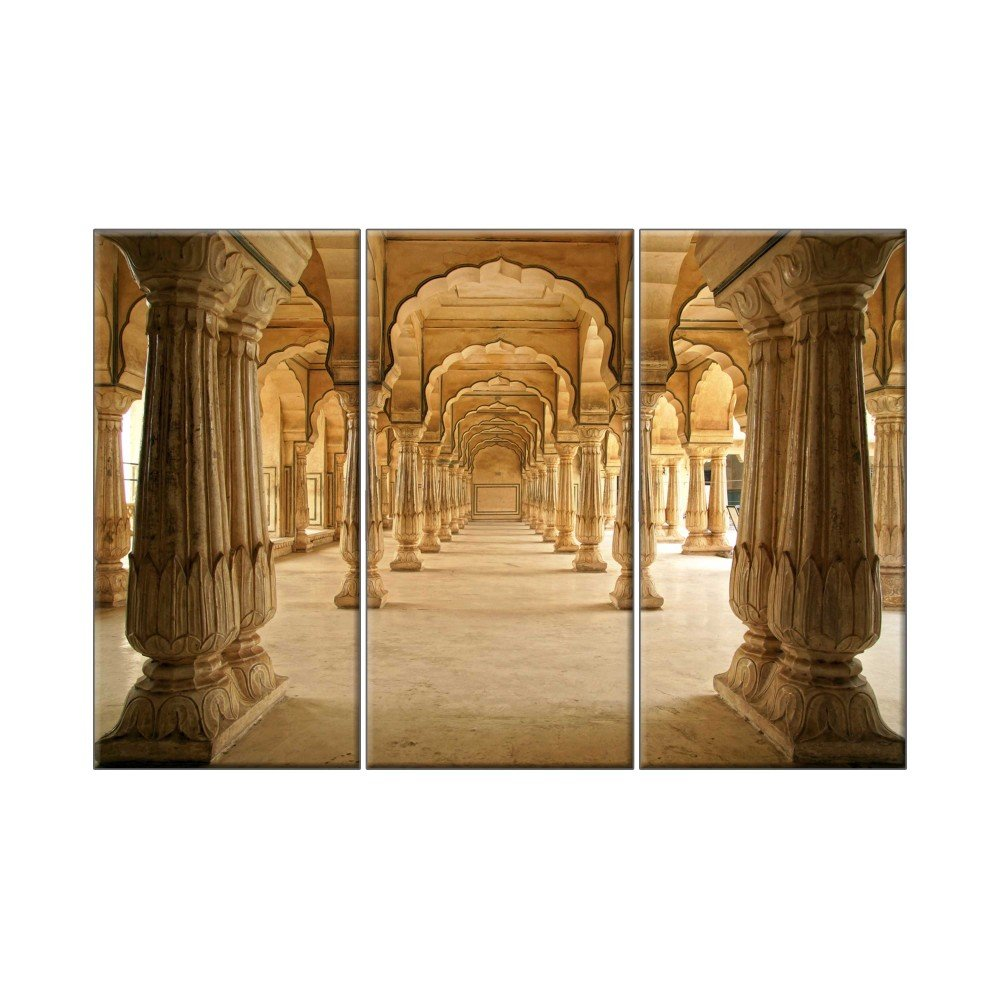 - NISH! Indian Arch 3D Effect Printed Picture Highlighter Tile Mural