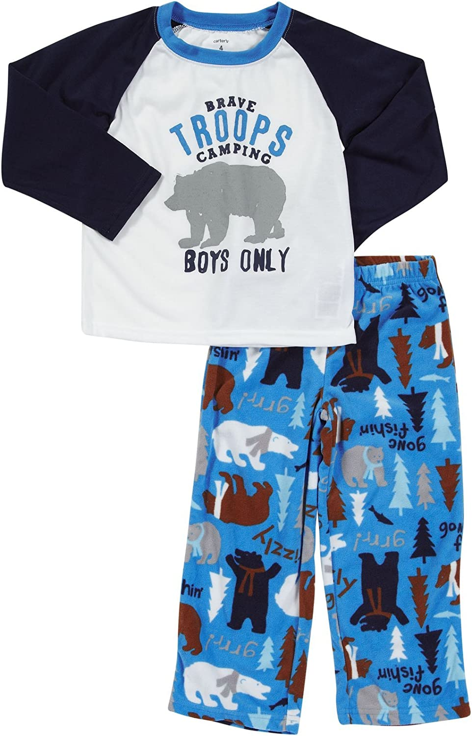 Carters Boys 2-Pc Halloween L//S Pajama Set