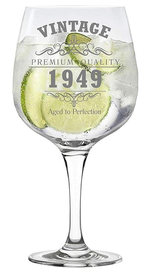Lapal Dimension Vintage 1949 Copa de 70 cumpleaños Copa Gin ...