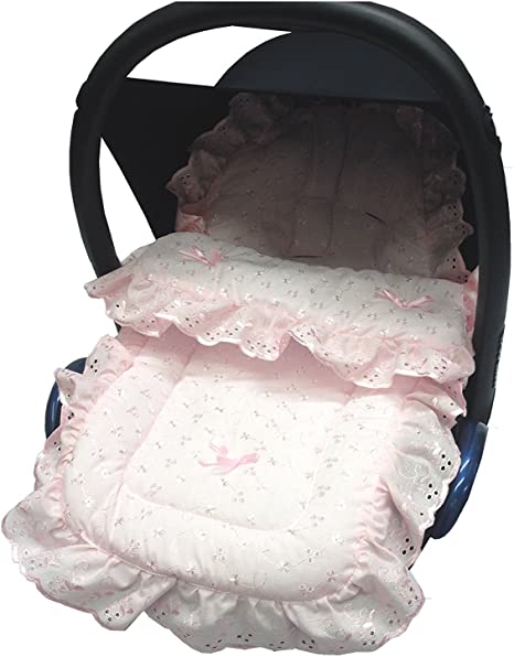 Cosy Toes Compatible with Silver Cross Broderie Anglaise Seat Liner Footmuff