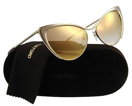 b46b045bccfb Tom Ford Sunglasses - Nastasya / Frame: Shiny Rose Gold Lens: Brown Mirror