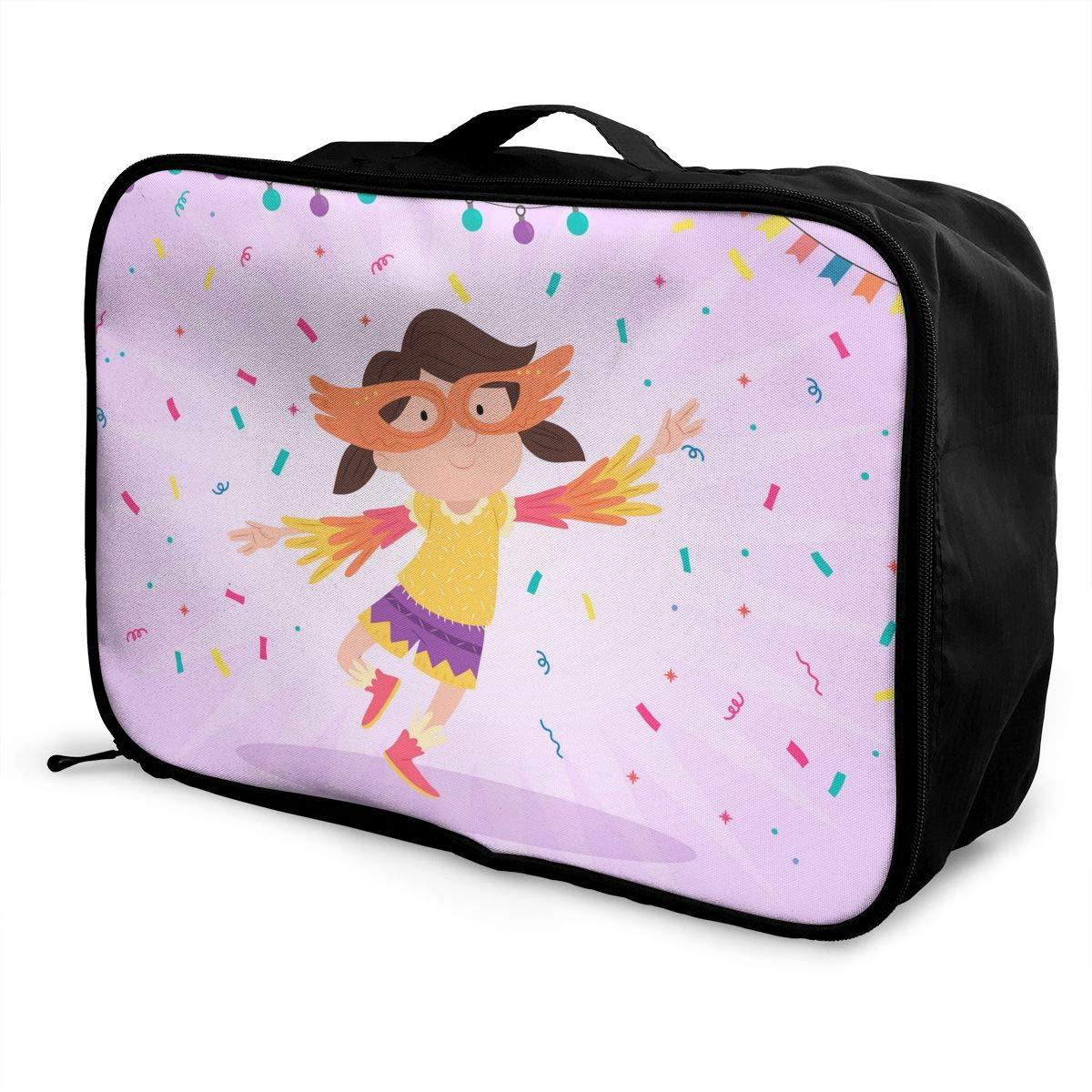 InterestPrint Large Duffel Bag Flowers Flight Bag Gym Bag Cute Baby Sloth
