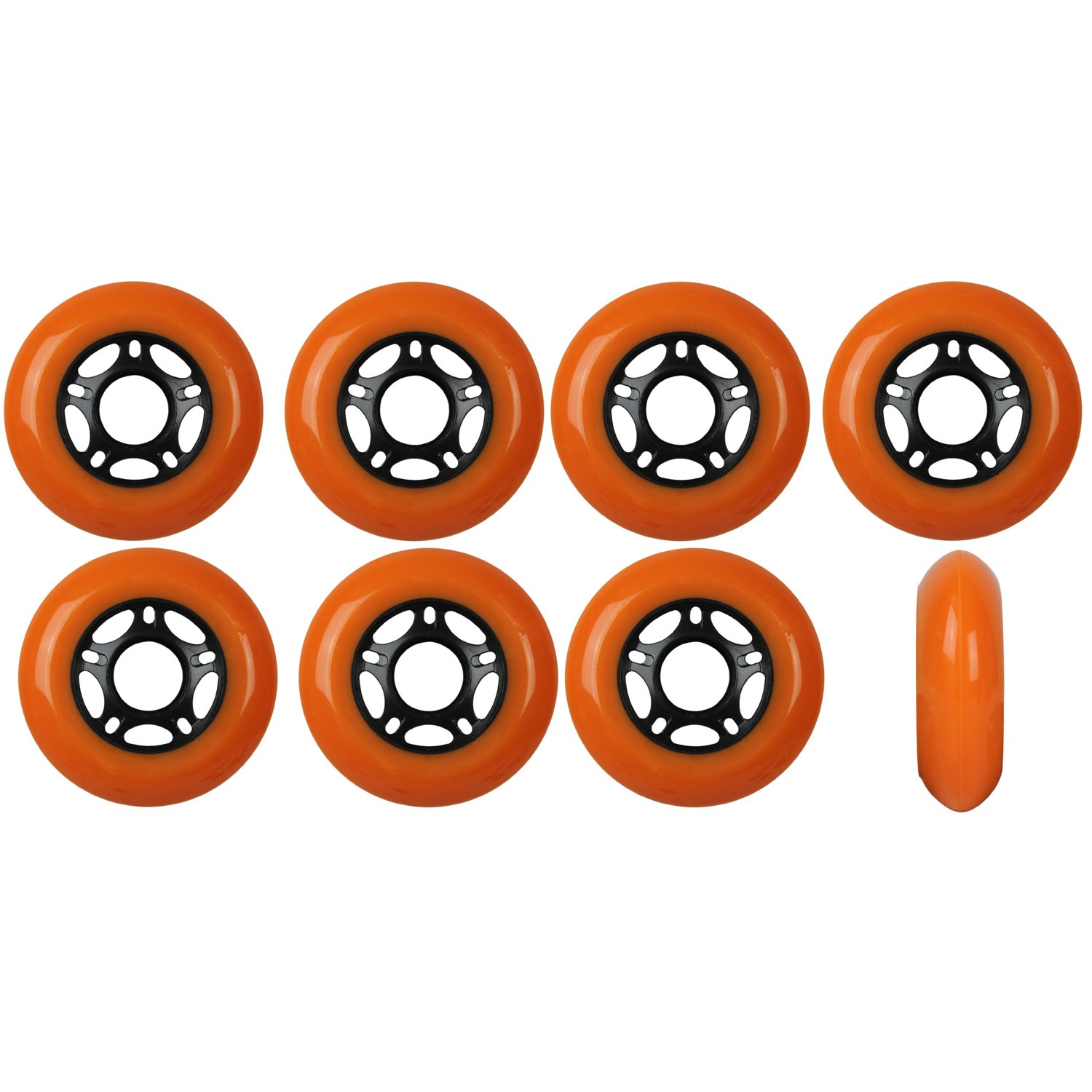 Player's Choice OUTDOOR Inline Skate Wheels ASPHALT Formula 76MM 89a ORANGE x8