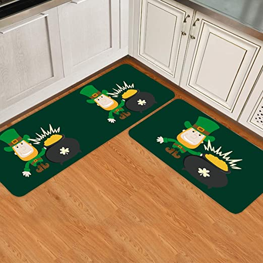 Indoor//Outdoor Floor Mat with Make St Patricks Day Great Again Printed for Livingroom