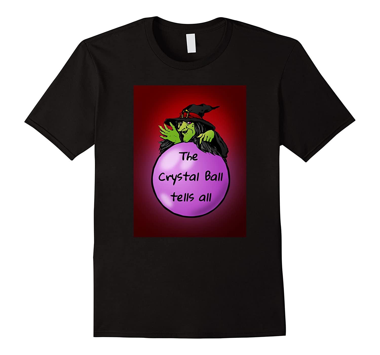 Halloween Crystal Ball Shirt Horror Witch Haunted House Tee-FL