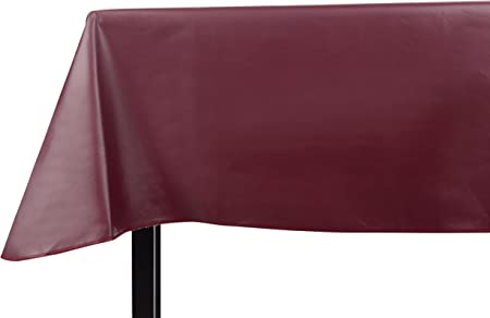 6 Gauge Heavy Yourtablecloth Heavy Duty Vinyl Rectangle or Square Tablecloth
